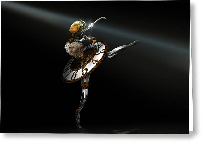 Music Box - The Dance of Hours Greeting Card by Alessandro Della Pietra