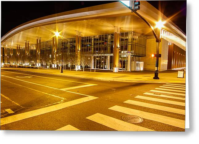 Gathering Greeting Cards - Music City Center Greeting Card by Robert Hebert