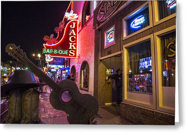 Nashville Greeting Cards - Music City Guitar Greeting Card by John McGraw