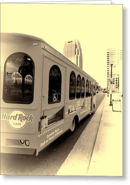 Music City Nashville Greeting Cards - Music City Nashville Tour Greeting Card by Dan Sproul