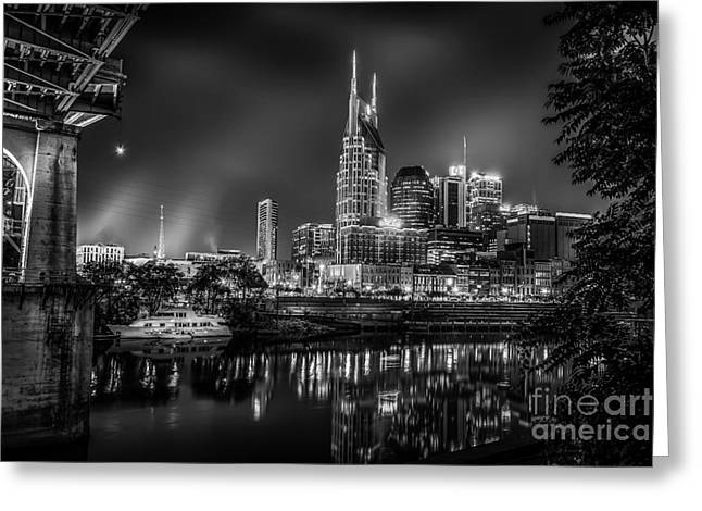 Nashville Tennessee Greeting Cards - Music City USA Greeting Card by Desmond Lake