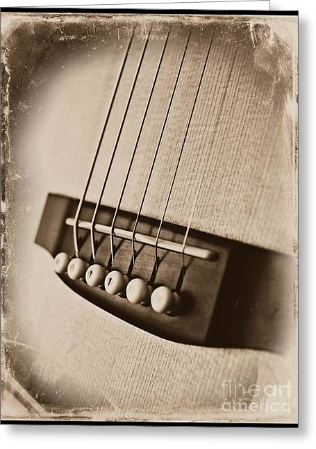 Acoustical Photographs Greeting Cards - Music Greeting Card by Clare Bevan