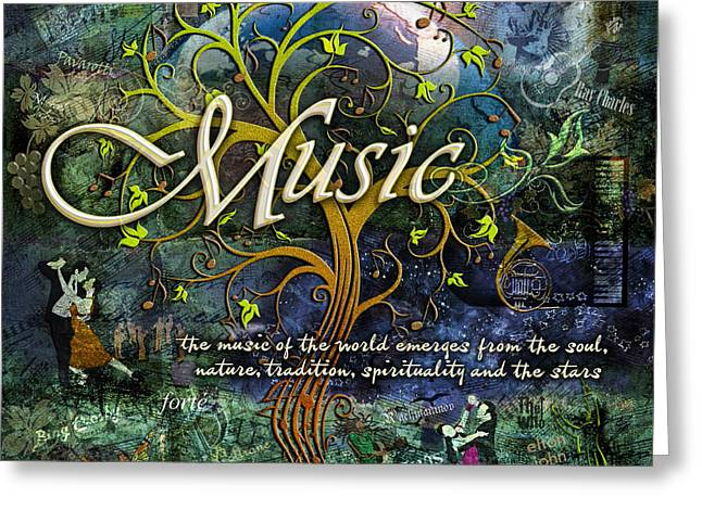 Music Greeting Card by Evie Cook