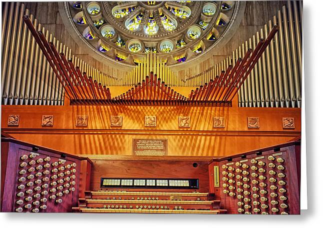 Pipe Organ Greeting Cards - Music for the Faithful Greeting Card by Mountain Dreams