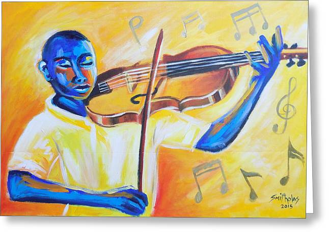 Grate Paintings Greeting Cards - Music For The Soul Lets Play Greeting Card by Olaoluwa Smith