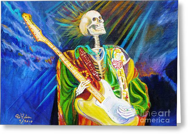 Us Rock And Roll Hall Of Fame Greeting Cards - Music from Heaven Greeting Card by To-Tam Gerwe