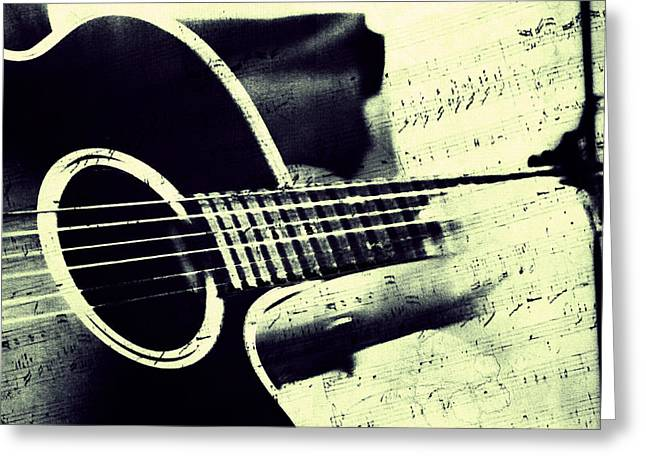Fine Art Grisaille Greeting Cards - Music from the Heart II Greeting Card by Jenny Rainbow