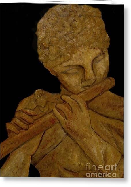Music In Stone Greeting Card by Nancy Bradley
