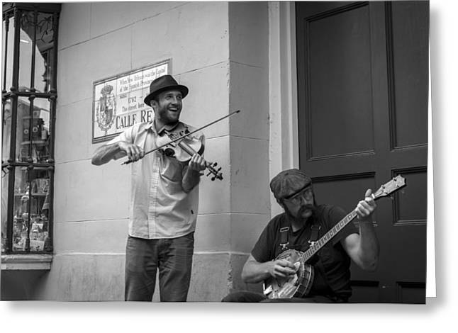 Music in the French Quarter Greeting Card by David Morefield