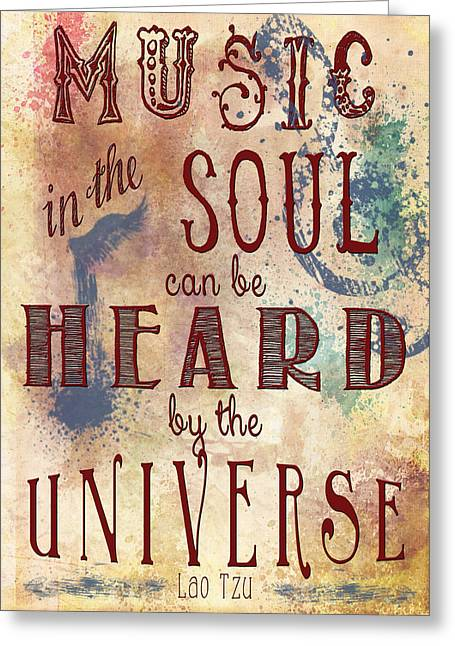 Music In The Soul Greeting Card by Heather Applegate