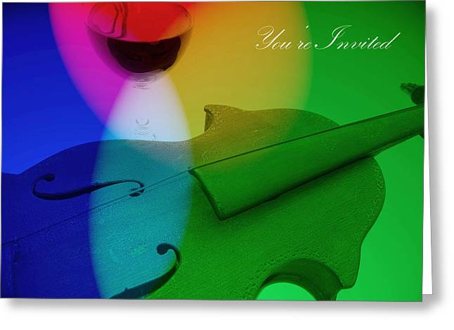 Women Tasting Wine Greeting Cards - Music Invitation Greeting Card by Diane McElhaney