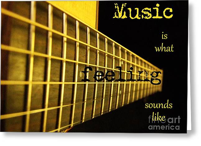 Music Is Greeting Card by Andrea Anderegg
