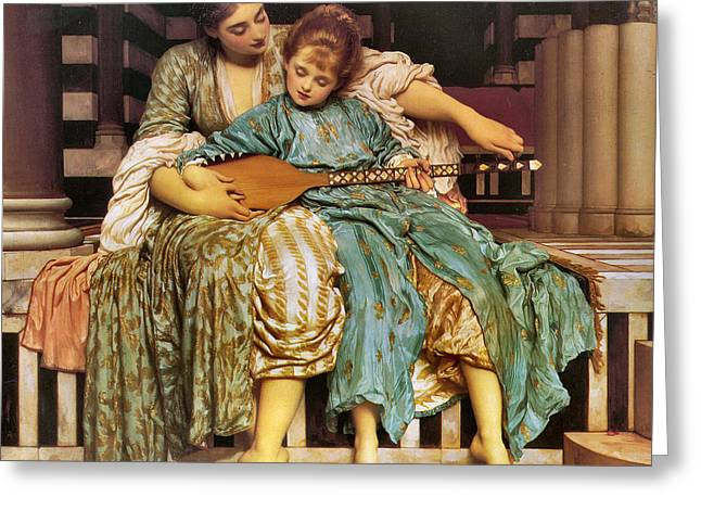 Frederick Digital Greeting Cards - Music Lesson 1877 Greeting Card by Lord Frederick Leighton