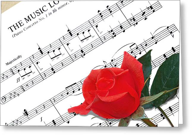 Gills Rock Greeting Cards - Music Lovers Greeting Card by Gill Billington