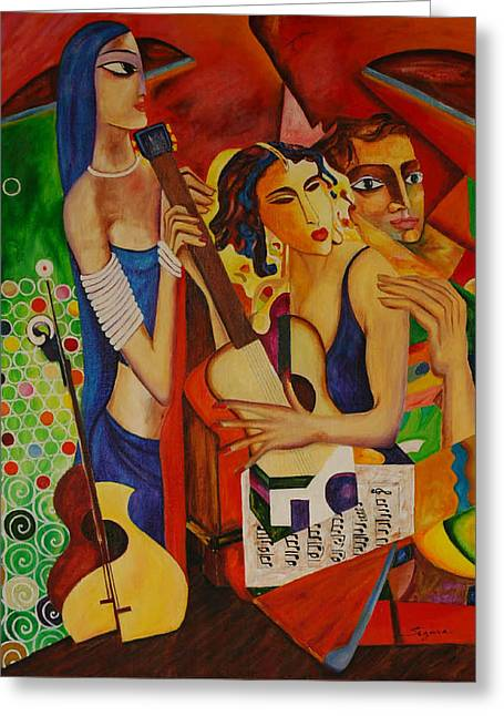 Guitare Greeting Cards - Music Lovers Greeting Card by Jean claude Segura