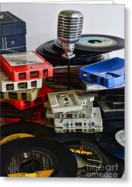 8-track Tape Player Greeting Cards - Music Memories Greeting Card by Paul Ward