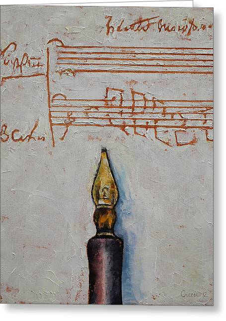 Mozart Greeting Cards - Music Greeting Card by Michael Creese