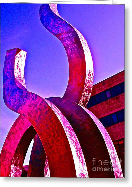 Campus Sculptures Greeting Cards - Music or Math Greeting Card by Chuck Taylor