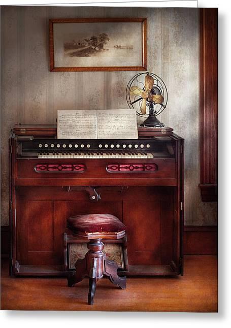 Organist Greeting Cards - Music - Organist - My Grandmothers organ Greeting Card by Mike Savad