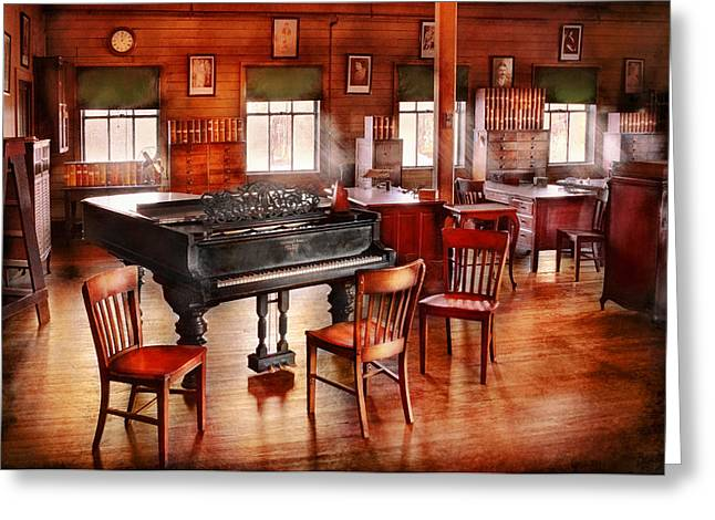 Music - Piano - The grand piano Greeting Card by Mike Savad