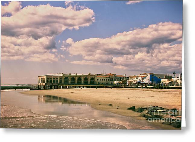 Music Pier From The Beach Greeting Card by Tom Gari Gallery-Three-Photography
