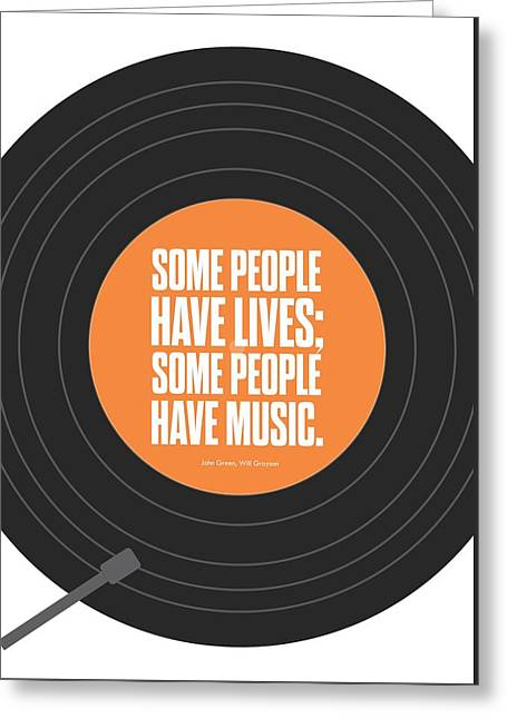 Inspirational Poster Greeting Cards - Music Quotes Typography Print Poster Greeting Card by Lab No 4 - The Quotography Department