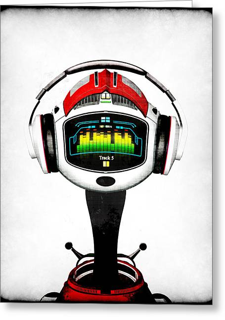 Frederico Borges Greeting Cards - Music roboto Greeting Card by Frederico Borges