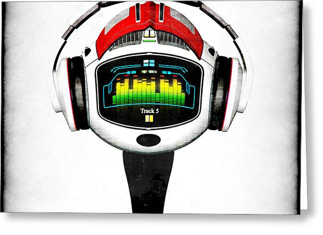 Music roboto Greeting Card by Frederico Borges