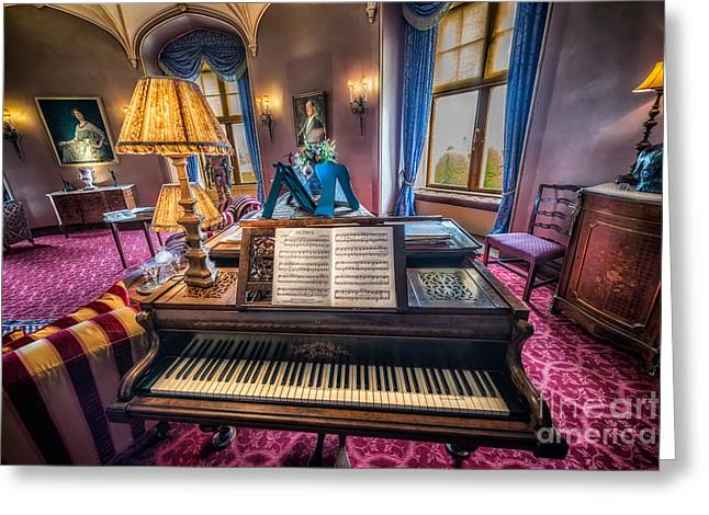Cabinet Greeting Cards - Music Room Greeting Card by Adrian Evans