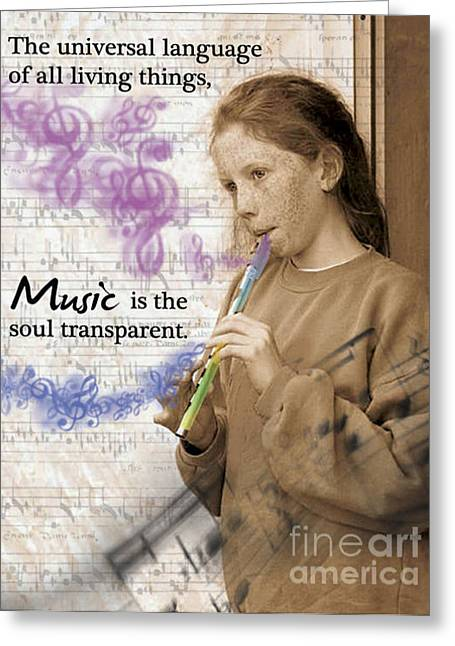 Playing Musical Instruments Digital Art Greeting Cards - Music Greeting Card by Shaboo Prints