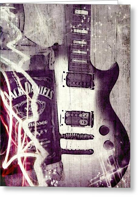 Electric Guitar Greeting Cards - Music Studio Art Greeting Card by Brian Howard