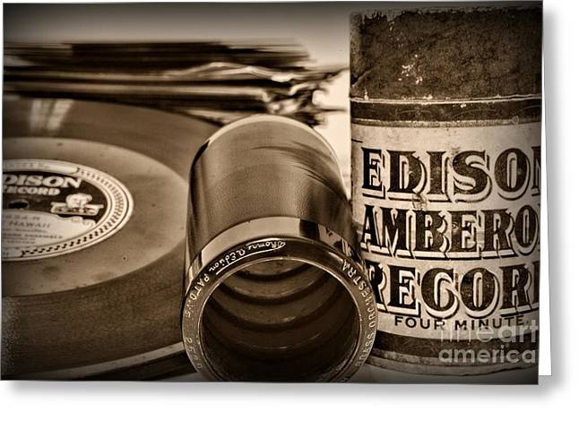 Edison Greeting Cards - Music The beginning Greeting Card by Paul Ward