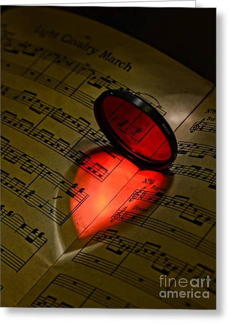 Luv Greeting Cards - Music - The Love of Music part 2 Greeting Card by Paul Ward