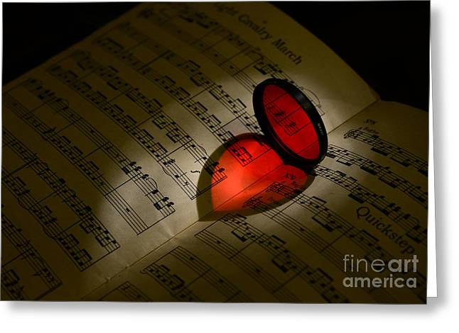 Luv Greeting Cards - Music - the love of music Greeting Card by Paul Ward