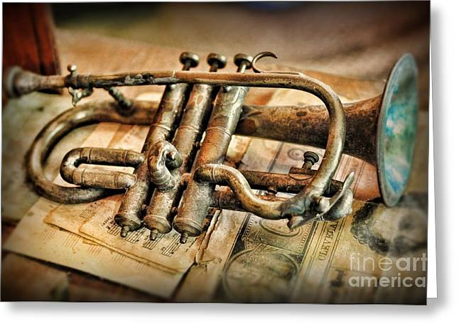 Art Of Lovers Greeting Cards - Music - The Trumpet Greeting Card by Paul Ward