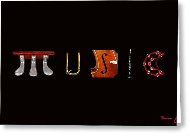 Quartet Mixed Media Greeting Cards - Music to look at. Greeting Card by Brian Jack