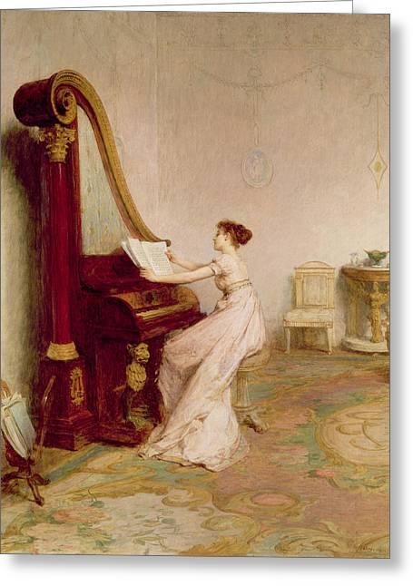 Drawing Room Greeting Cards - Music When Soft Voices Die, Vibrates Greeting Card by Sir William Quiller Orchardson