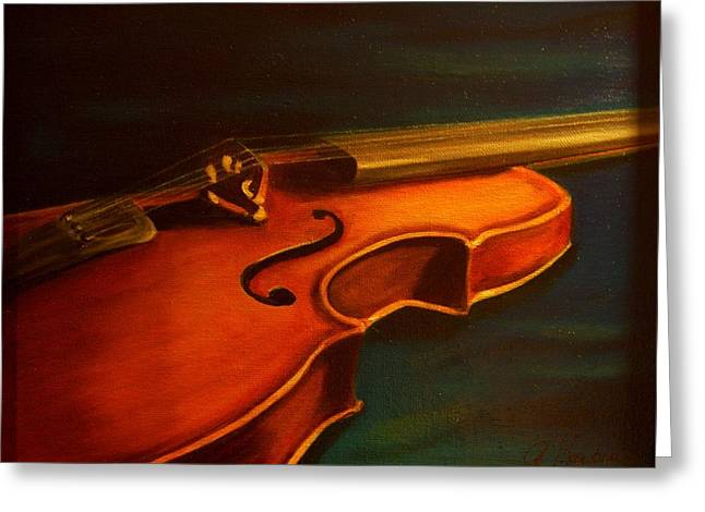 Music Ceramics Greeting Cards - Musica Greeting Card by Anne Barberi
