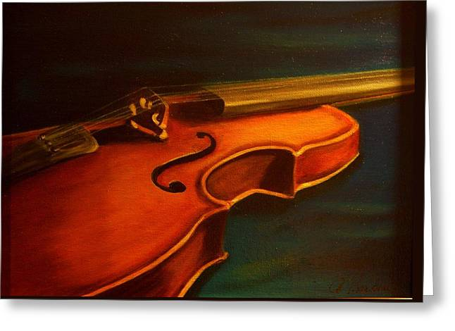 Print Ceramics Greeting Cards - Musica Greeting Card by Anne Barberi