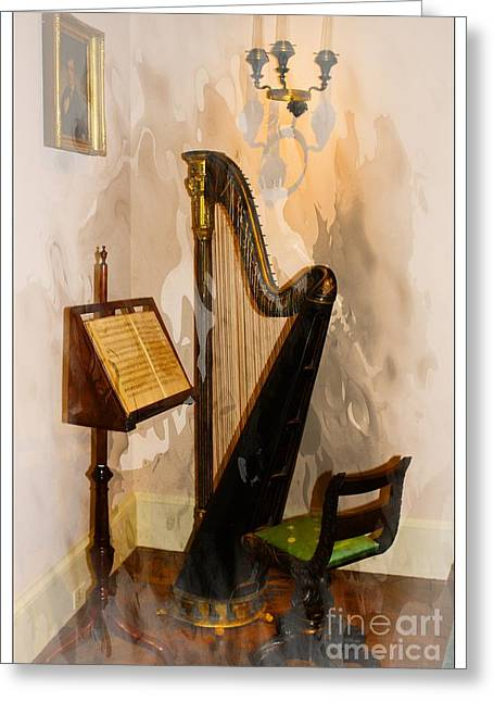 Candle Lit Greeting Cards - Musical Corner Greeting Card by Marcia Lee Jones