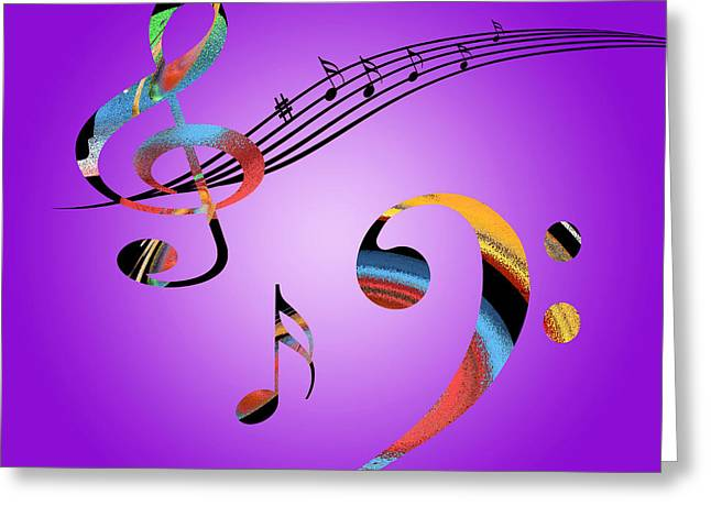 Contemporary Lovers Greeting Cards - Musical Dreams Greeting Card by Gill Billington
