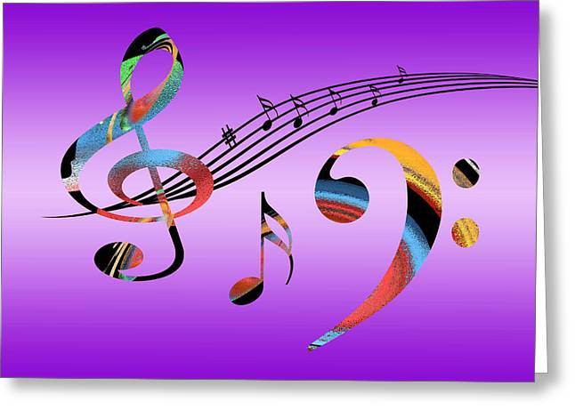 Contemporary Lovers Greeting Cards - Musical Fantasy Greeting Card by Gill Billington
