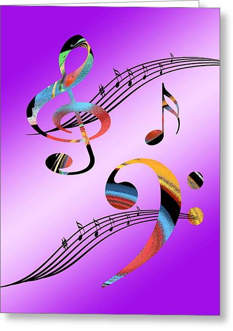 Contemporary Lovers Greeting Cards - Musical Illusion Greeting Card by Gill Billington