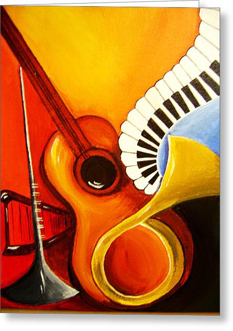 Musical Instruments Greeting Card by Rajni A