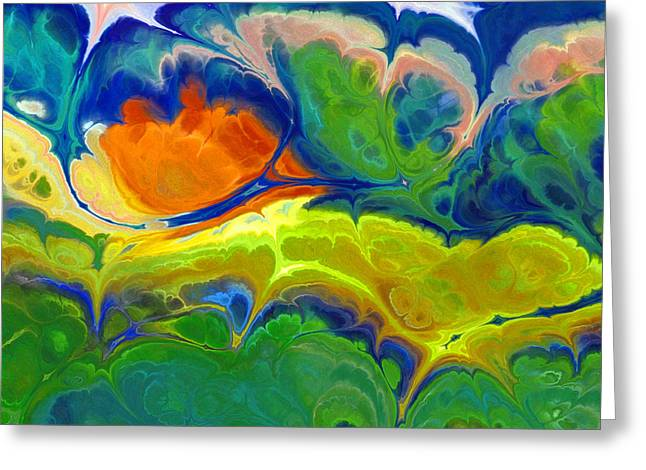 Abstract Digital Mixed Media Greeting Cards - Musical Landscape Greeting Card by Lutz Baar