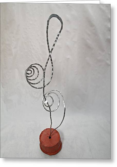 Silver Sculptures Greeting Cards - Musical Magic Greeting Card by Vincent Felice