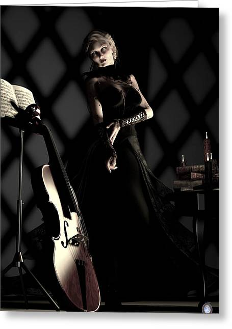 Chello Greeting Cards - Musical Muse Greeting Card by MaryAnn Halstead