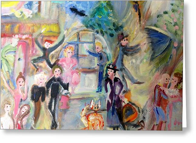 Musical Film Paintings Greeting Cards - Musical Paradise Greeting Card by Judith Desrosiers