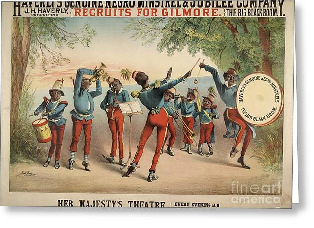 Race Relations Greeting Cards - Musical Troupe Advert, 1870s Greeting Card by British Library