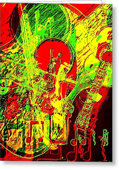 Where The Beautiful Play Greeting Cards - Musically Inclined Greeting Card by Larry E Lamb